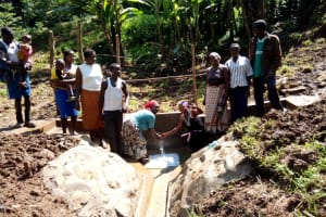 The Water Project: Lutonyi Community, Shihachi Spring -  Clean Water