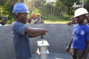 The Water Project: Baya Community -  Pump Installation
