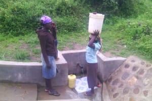 The Water Project: Shiamboko Community, Oluchinji Spring -  Clean Water