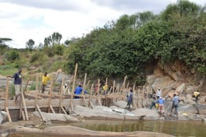 The Water Project: Kithuluni Community -  Sand Dam Construction