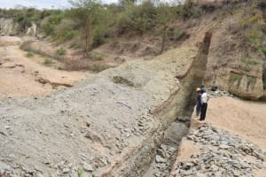 The Water Project: Kathama Community -  Trenching