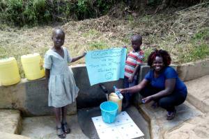 The Water Project: Handidi Community, Matunda Spring -  Thank You