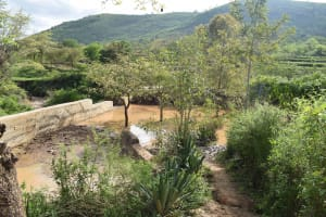 The Water Project: Ilinge Community B -  Finished Sand Dam
