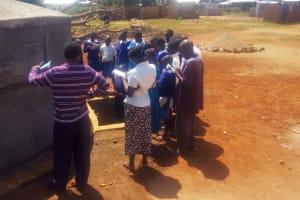 The Water Project: Mwiyenga Primary School -  Tank Maintenance Training