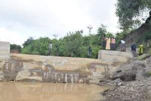 The Water Project: Kathama Community -  Finished Sand Dam