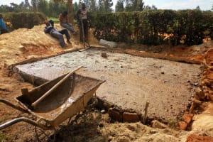 The Water Project: Bumini Primary School -  Latrine Foundation