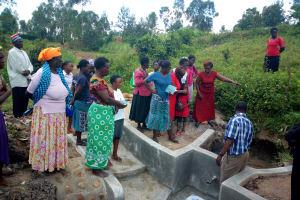 The Water Project: Shiamboko Community, Oluchinji Spring -  Spring Maintenance Training