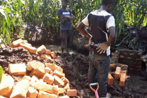 The Water Project: Mwiyala Community, Benard Spring -  Construction