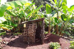 The Water Project: Rubona Kyagaitani Community -  Pit Latrine With Hand Washing Station