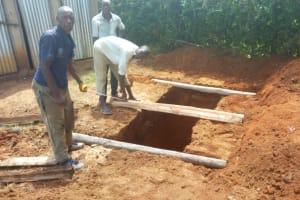 The Water Project: Mwiyenga Primary School -  Latrine Construction