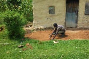 The Water Project: Mwiyala Community, Benard Spring -  Casting Sanitation Platform