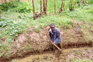 The Water Project: Lutonyi Community, Shihachi Spring -  Digging Drainage