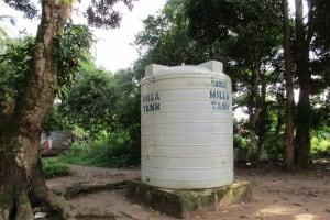 The Water Project: Benke Community, Waysaya Road -  Water Tank In Community