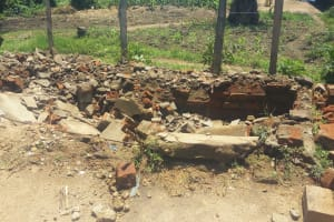 The Water Project: Shibale Primary School -  Demolished Latrines