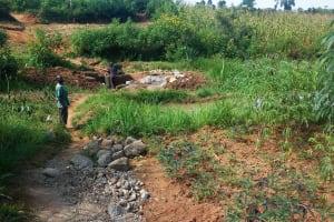 The Water Project: Futsi Fuvili Community, Futsi Fuvili Spring -  Construction