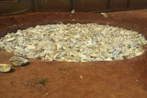 The Water Project: Mwiyenga Primary School -  Tank Foundation Construction