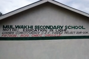 The Water Project: Mulwakhi Secondary School -