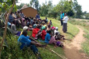 The Water Project: Futsi Fuvili Community, Shikanga Spring -  Training