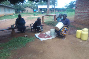 The Water Project: Malimili Secondary School -  Cooks Preparing School Lunch