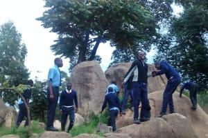 The Water Project: Samson Mmaitsi Secondary School -  Rocks Students Sit On