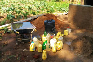 The Water Project: Shiyunzu Primary School -  Containers Used To Bring Water To Construction Site