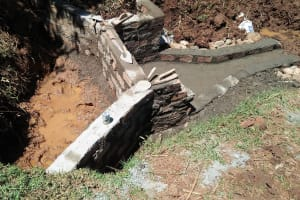 The Water Project: Isese Community, Sylvanus Spring -  Construction