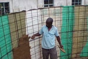 The Water Project: Ebubayi Secondary School -  Tank Construction