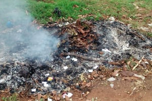 The Water Project: Erusui Secondary School -  Burning Garbage