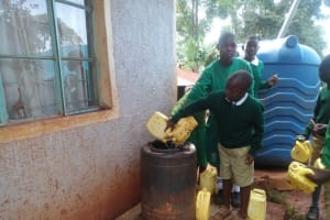 The Water Project: Chavakali Primary School -  Storing Water