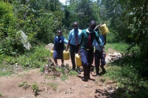 The Water Project: Gidagadi Secondary School -  Carrying Water