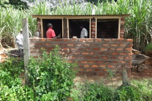 The Water Project: Emulakha Primary School -  Latrine Construction