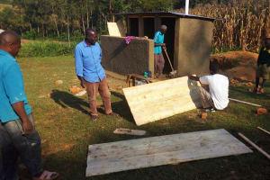 The Water Project: Buhunyilu Primary School -  Latrine Construction