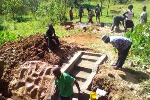 The Water Project: Irungu Community, Irungu Spring -  Construction
