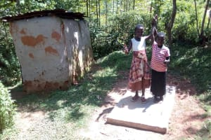 The Water Project: Elunyu Community, Saina Spring -  Sanitation Platforms