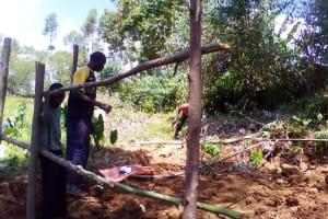 The Water Project: Irungu Community, Irungu Spring -  Fencing