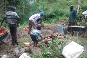The Water Project: Shitoto Community, Laurence Spring -  Construction