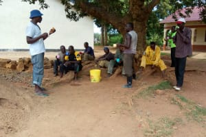 The Water Project: Mwitoti Secondary School -  Artisans Break For Lunch