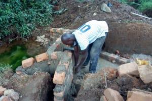 The Water Project: Mtao Community, Tifina Odari Spring -  Construction