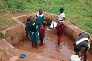 The Water Project: Mulwakhi Primary School -  Fetching Water For School