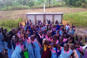 The Water Project: Muhudu Primary School -  Finished Latrines