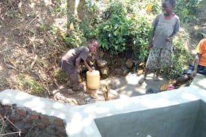 The Water Project: Futsi Fuvili Community, Shikanga Spring -  Spring Construction