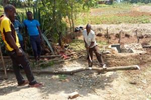 The Water Project: Futsi Fuvili Community, Patrick Munyalo Spring -  Building A Fencing