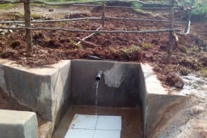 The Water Project: Simuli Community, Lihala Sifoto Spring -  Construction
