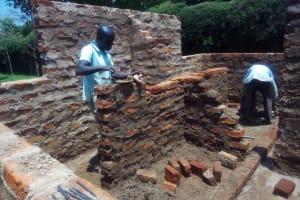 The Water Project: Ebubayi Secondary School -  Latrine Construction