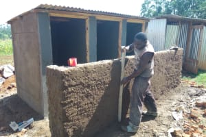 The Water Project: Irenji Primary School -  Latrine Construction