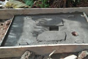 The Water Project: Isese Community, Sylvanus Spring -  Sanitation Platform