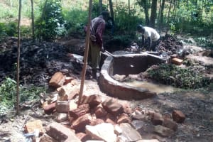 The Water Project: Mkunzulu Community, Museywa Spring -  Construction