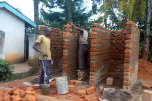 The Water Project: Mwitoti Secondary School -  Latrine Construction