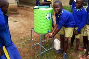 The Water Project: Shiyunzu Primary School -  Hand Washing Station