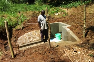 The Water Project: Mungulu Community, Zikhungu Spring -  Fencing The Spring